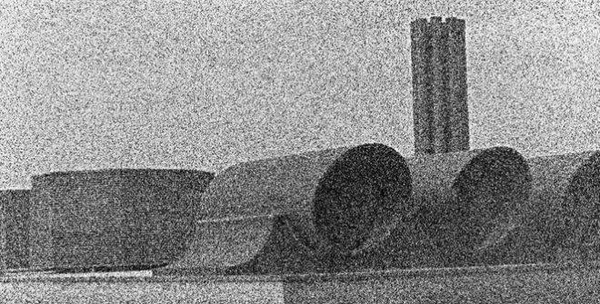Lydia Anoz. Fiumicino (fabrica), decada de 1980 ©Lydia Anoz. Museo de Navarra