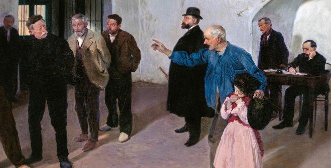 El sátiro.Antonio Fillol (1870 - 1930). Óleo sobre lienzo, 1908. Colección Familia Fillol