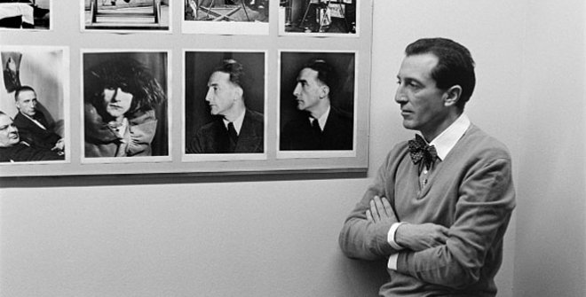 Javier Utray con Duchamp, 1984