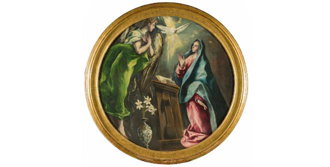 La Anunciación. El Greco. Óleo sobre lienzo, 1603-5. Fundación Hospital Nuestra Señora de la Caridad – Memoria Benéfica de Vega (FUNCAVE)