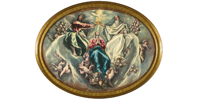 La Coronación de la Virgen. El Greco. Óleo sobre lienzo, 1603-5. Fundación Hospital Nuestra Señora de la Caridad – Memoria Benéfica de Vega (FUNCAVE)