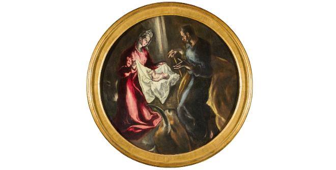 La Natividad. El Greco. Óleo sobre lienzo, 1603-5. Fundación Hospital Nuestra Señora de la Caridad – Memoria Benéfica de Vega (FUNCAVE)