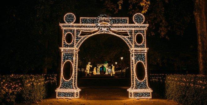 Las Luces des Real Jardín Botánico - Puertas a la Dicha ©Christmas Garden