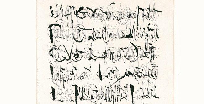 León Ferrari. Carta a un general, 1964. Tinta china sobre papel, 34 x 17,5 cm. Fundación Augusto y León Ferrari Arte y Acervo (FALFAA)