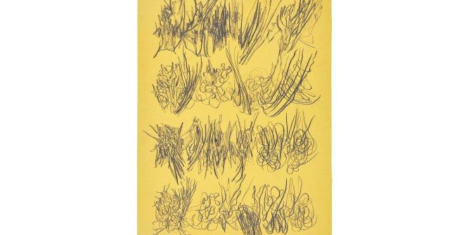 León Ferrari. Sin título, 1976. Lápiz sobre papel, 47,7 x 33 cm. Donación Fundación Museo Reina Sofía. Fotografía Alejandra Urresti y Ramiro Gonzales