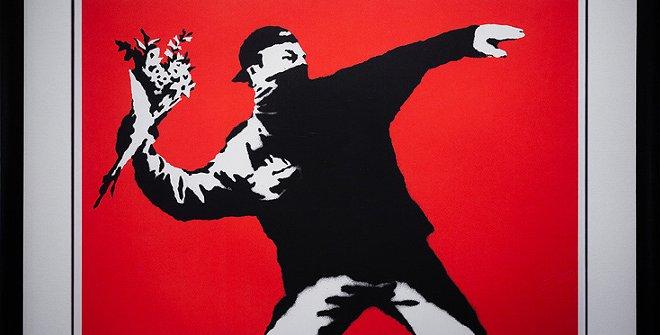 Love Is In The Air -Banksy