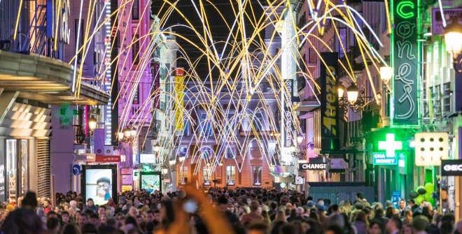 Luces de Navidad Madrid 2018-2019. Calle Preciados.