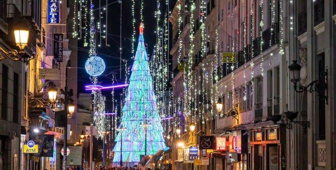 Luces de Navidad 2020 en la Carrera de San Jerónimo