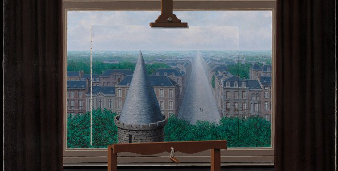 René Magritte. Los paseos de Euclides, 1955. Minneapolis Institute of Art, Mineápolis, The William Hood Dunwoody Fund. Courtesy Ludion Publishers. © René Magritte, VEGAP, Madrid, 2021