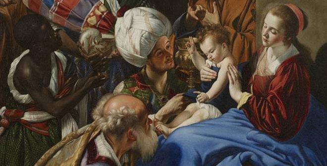 Belén en la Puerta de Alcalá - Maíno, Adoración de los Reyes Magos, 1612-1614