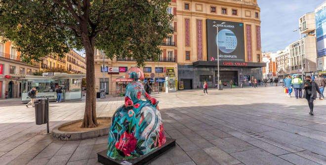 Menina contra la violencia de género. Antonio_Azzato. Plaza de Callao. © Álvaro López del Cerro. Madrid Destino