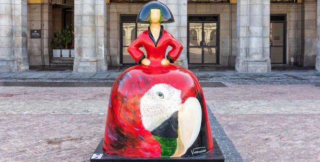 Menina. Grito de Roraima. Valentina Giuffrida. Plaza Mayor. © Álvaro_Lopez_Del_Cerro. Madrid Destino
