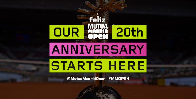 Mutua Madrid Open Madrid 2022. 20º aniversario