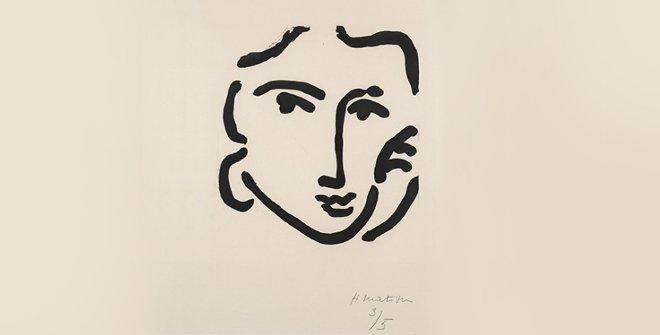 Nadia con expresión seria, 1948. © Succession H. Matisse, VEGAP, 2019