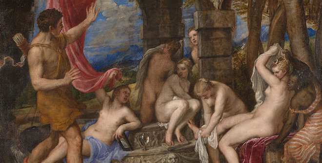Tiziano. Titian - Diana and Actaeon. ca. 1556-1559. © The National Gallery, London