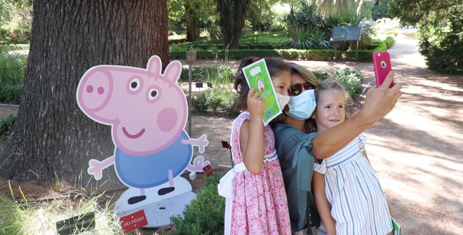 Peppa Pig visita el Real Jardín Botánico de Madrid