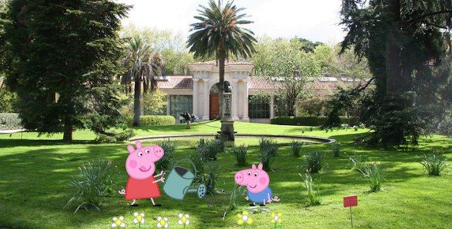 Peppa Pig en los jardines botánicos de España