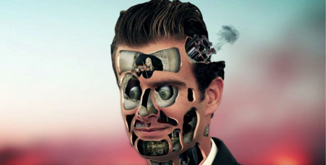 Sholim.Half Human-Half Machine Portrait Series: Illness, 2013. Single-channel video animation 0:02 minutes. Courtesy of the artist