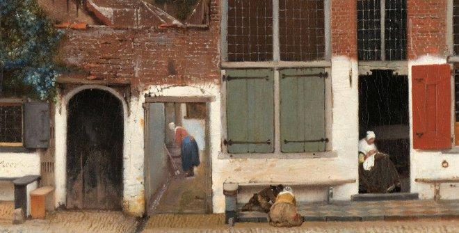 La callejuela. 54,3 cm × 44 cm. Óleo sobre lienzo. Rijksmuseum, Ámsterdam.