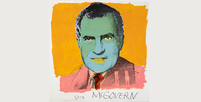 Andy Warhol. Vote McGovern, 1972. Vota McGovern. Serigrafía en color. The Trustees of the British Museum. 2020 The Andy Warhol Foundation for the Visual Arts. Inc. / VEGAP