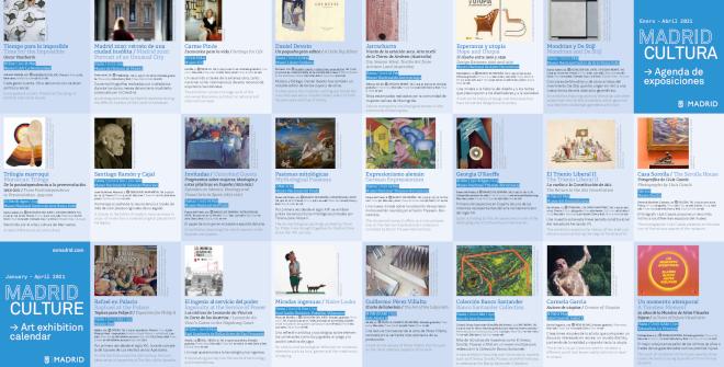 Folleto Madrid Cultura / Agenda de exposiciones enero - abril 2021 (PDF)