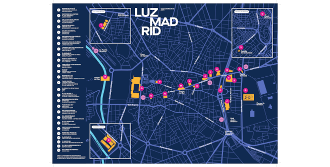 Mapa LuzMadrid. Festival Internacional de Luz de Madrid. Pulsa para descargártelo
