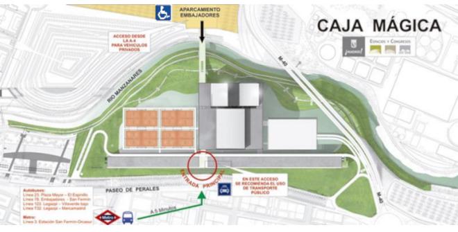 Plano acceso Caja Mágica Copa Davis 2019