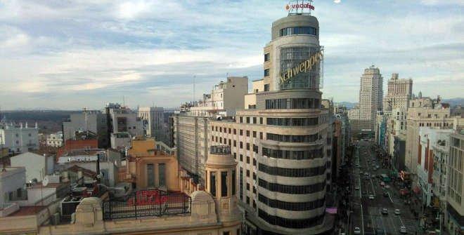 Vista de la Plaza de Callao y calle Gran Vía desde Gourmet Experience (Callao)