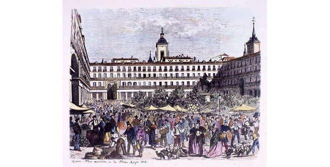 Feria Navideña de la Plaza Mayor. 1863