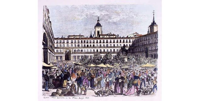 Feria Navideña de la Plaza Mayor. 1863
