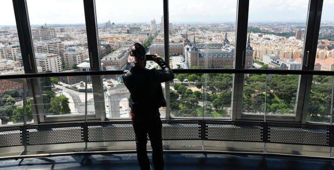 Vista desde el mirador del Faro de Moncloa