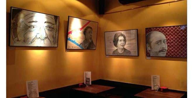 Exposición de FeedingArt en el restaurante vasco Lamiak