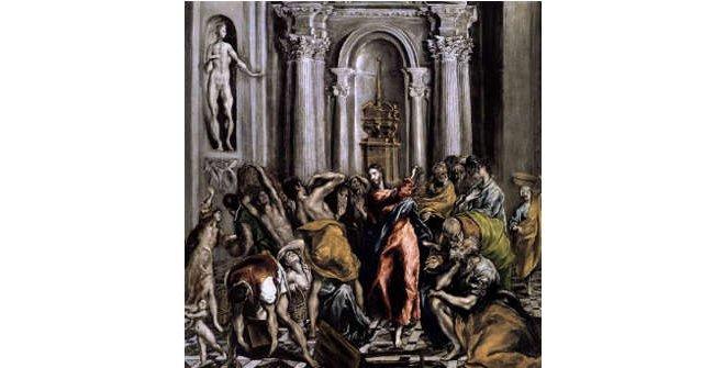 Expulsión de los Mercaderes del Templo, de El Greco / Iglesia de San Ginés de Arlés