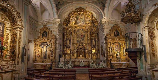 Iglesia de las Trinitarias Descalzas. Altar mayor.