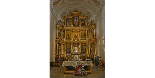 Retablo barroco de la Iglesia de Santa María la Antigua de Vicálvaro
