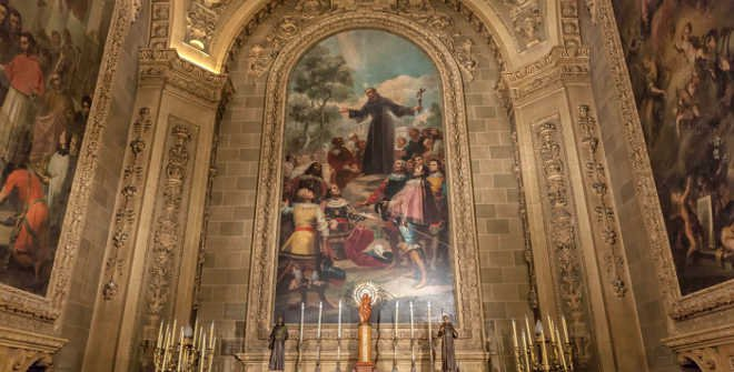 Real Basílica de San Francisco El Grande_Pintura de Goya con su autorretrato