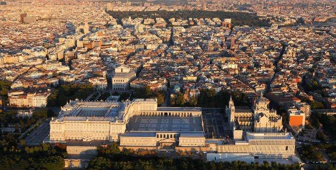 Vista aérea Palacio Real © Patrimonio Nacional