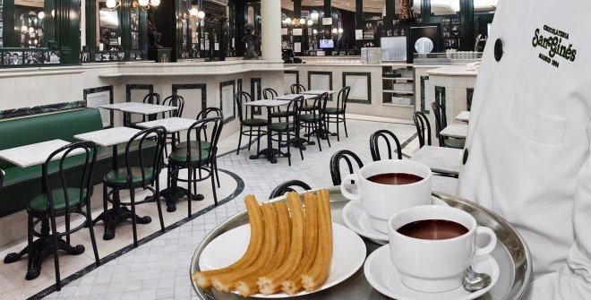 Chocolate con churros en San Ginés