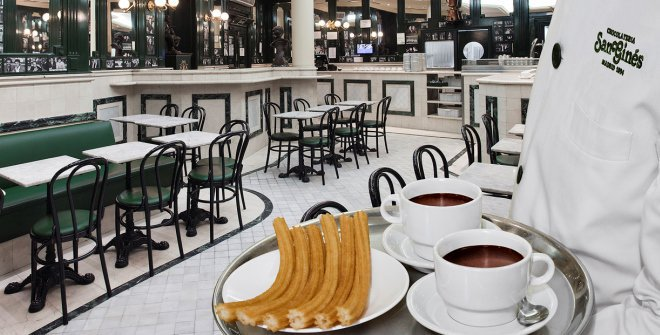 Chocolate con churros en San Ginés