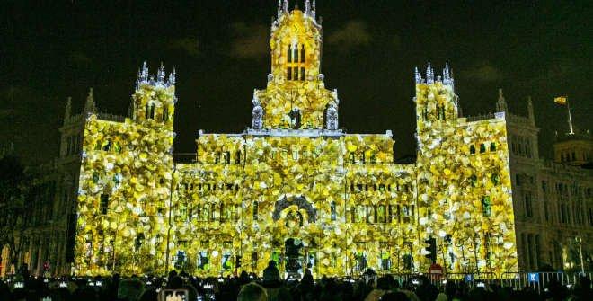 Un sueño de Navidad videomapping Palacio de Cibeles