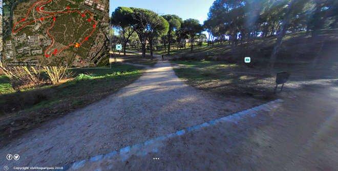 Pincha sobre la foto para un Paseo Virtual por la Dehesa de la Villa (Vivir los Parques)