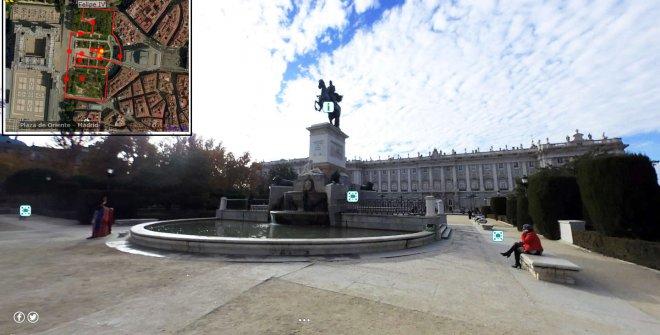 Paseo Virtual por los Jardines de la Plaza de Oriente(Vivir los Parques)