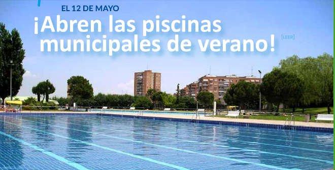 Apertura piscinas municipales Madrid 2018