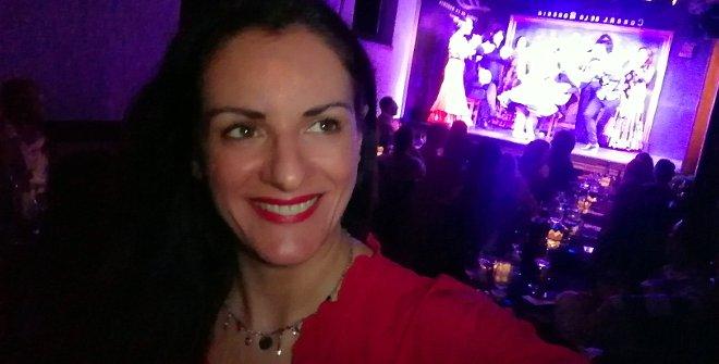 Disfrutando del flamenco en el Corral de la Morería