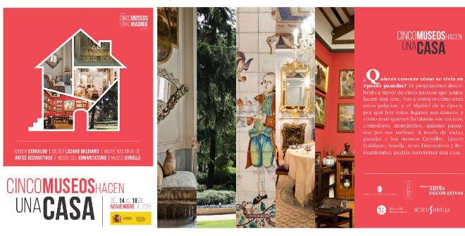 Folleto Visitas guiadas Cinco museos hacen una casa