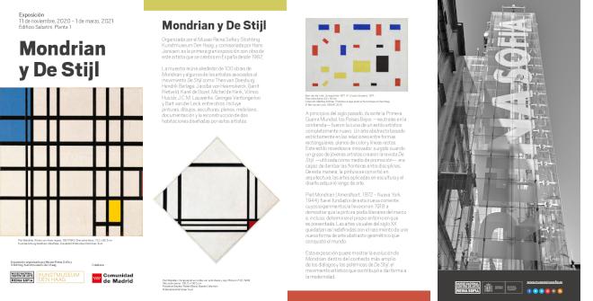 Folleto turístico Museo Reina Sofía exposición Mondrian y De Stijl