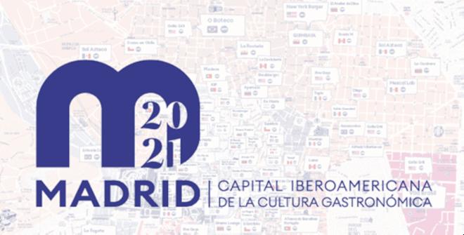 Mapa Madrid, capital iberaomericana de la cultura gastronómica