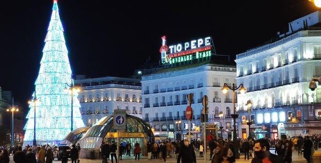 Navidad 2020 en la Puerta del Sol de Madrid