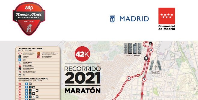 Recorrido Plano Maraton 42k 2021
