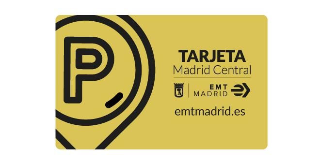 Tarjeta aparcamientos EMT Madrid Central